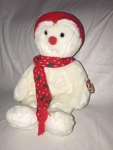 (New) Ty Beanie Buddy Snowboy Snowman Christmas 1999 NWT Plush Stuffed Babies - $15.83