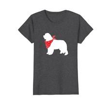 Newfoundland Wearing Red Bandana Dog Silhouette T-Shirt - $19.99+
