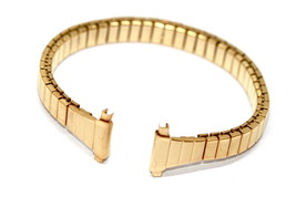 Speidel 11-14MM Extra Long Gold Twist O Flex Tapered Expansion Watch Band Strap - $19.79