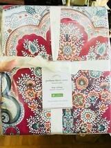 Pottery Barn Jordana Duvet Cover Set Red King 2 Standard Shams Floral 3p... - $189.00