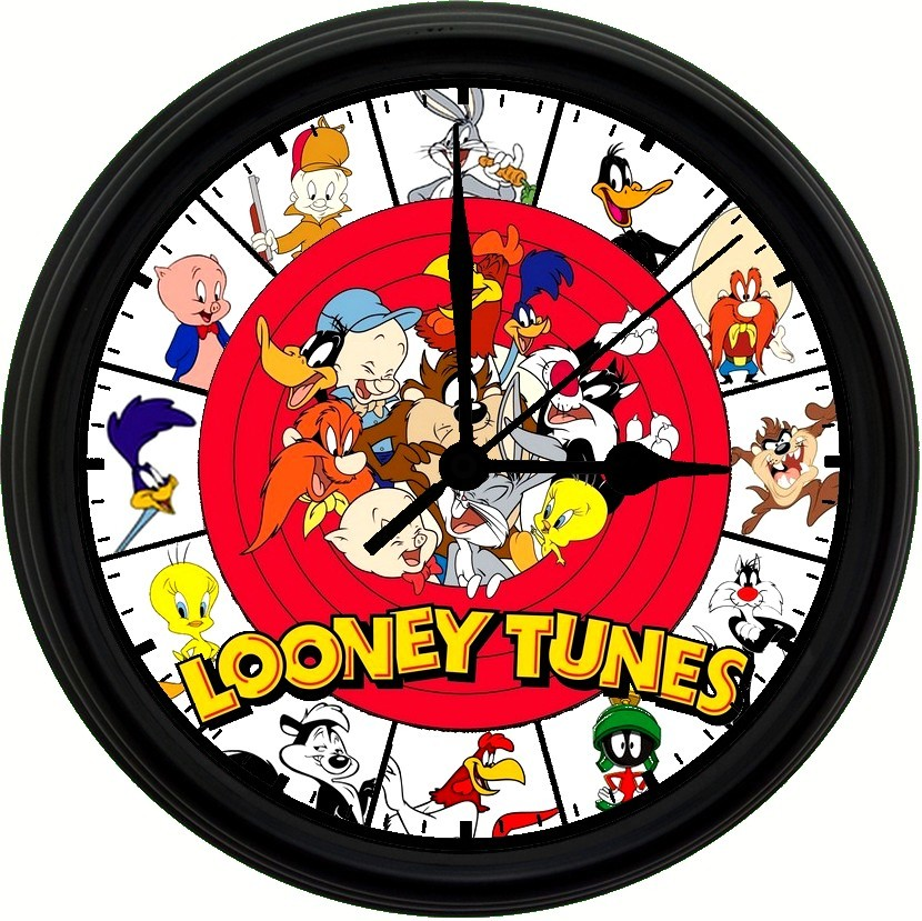 Primary image for LOONEY TUNES, Exclusive! 8in. Unique Homemade Wall Clock w/ Battery Included
