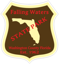 Falling Waters Florida State Park Sticker R6721 You Choose Size - $1.45+