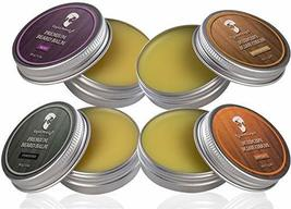 Beard Balm Conditioner 4 Pack - Natural Variety Leave-in Conditioner Wax Butter  image 4