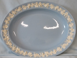 """Wedgwood Embossed Queen's Ware Lavender 12"""" Oval Platter - $35.53"""