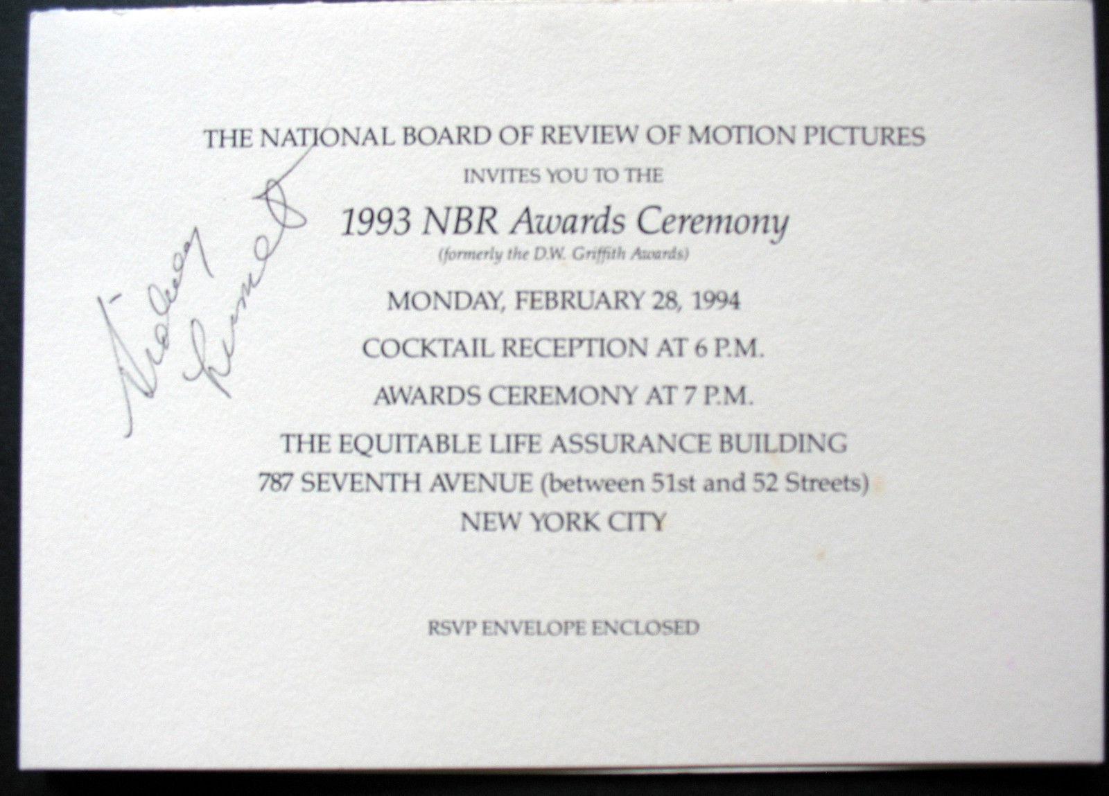 SIDNEY LUMET (ORIGINAL AUTOGRAPH) SIGN AT NBR AWARDS CEREMONY (CLASSIC)