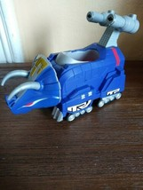 Imaginext Power Rangers Blue Triceratops Zord Dinosaur Fisher Price Dino... - $16.60