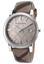 Burberry BU9029 Heritage Beige Swiss Made Leather Womens Watch - $393.49 CAD
