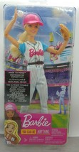Barbie Made To Move Ultimate Posable Barbie Baseball Player FRL98 *See D... - $24.74