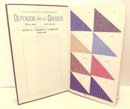 John V Farwell Company Dept. 2 Dependon Cheviots Bookfold Salesman Sampl... - $99.99