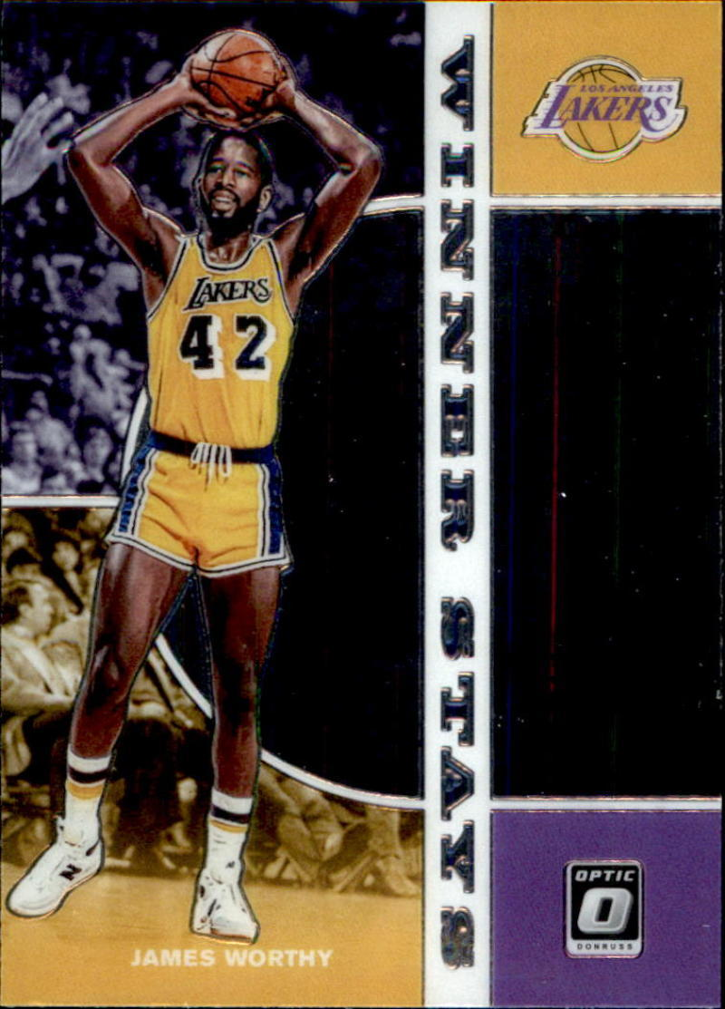 Primary image for 2019-20 Donruss Optic Winner Stays #15 James Worthy Lakers