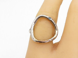 925 Sterling Silver - Vintage Genuine Blue Diamond Accent Band Ring Sz 7... - €31,37 EUR