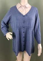 NWT Motherhood Maternity Blue Layered Look Sweater Size XL Extra Large - $15.83