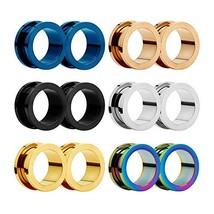 HuaCan Ear Tunnels Plugs Expander - Stretching Piercing (Gauge-18mm(11/1... - $26.73