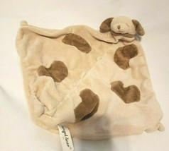 Angel Dear Brown Tan Puppy Dog Security Blanket Baby Lovey Spots Nubs - $10.77