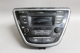 11-15 HYUNDAI ELANTRA AM/FM RADIO CD PLAYER 961703X156GU OEM - $60.59