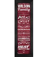 """Personalized Miami Heat """"Family Cheer"""" 24 x 8 Framed Print - $39.95"""
