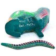 Handmade Alebrijes Oaxacan Copal Wood Carving Painted Cat Kitten Figurine image 6