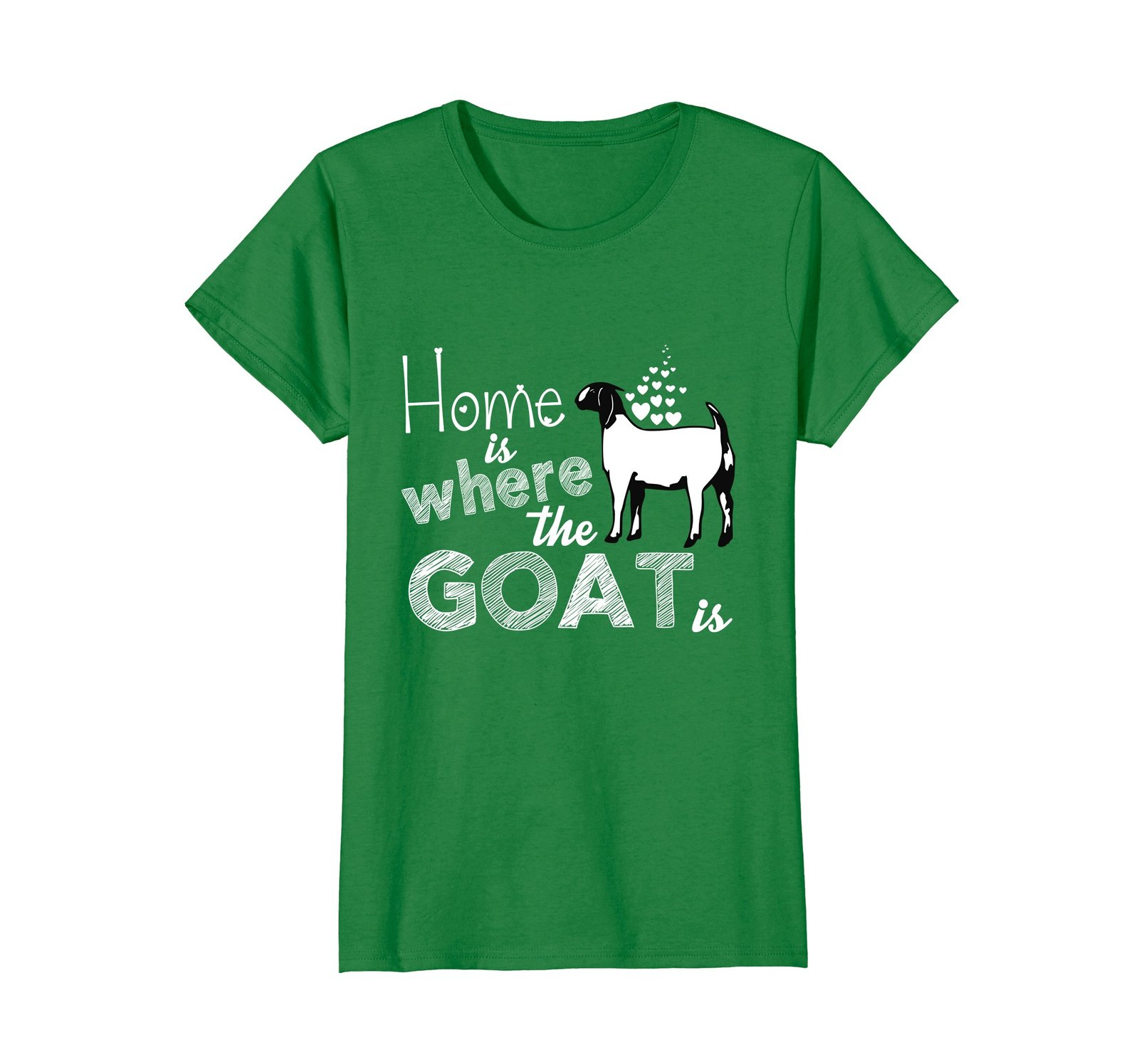 Home is where the Goat is beautyful t-shirt