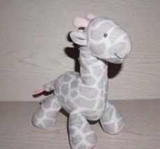 Carters Just One You Gray Pink Heart Giraffe Plush Stuffed Animal Lovey ... - $18.69