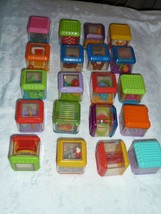 LOT 20pc FISHER PRICE Sensory PEEK A BOO Activity BLOCKS SPORTS ANIMALS - $34.64