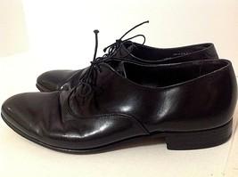 Bostonian Plane Toe Oxford Black Leather Dress Shoes Men's 10 1/2M - $28.21