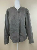 Torrid Plus Size 4 Gray Faux Brushed Suede Leather Moto Jacket Womens 4X - $39.99