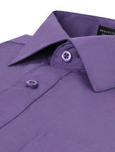 Omega Italy Men's Purple Dress Shirt Long Sleeve Slim Fit w/ Defect - XL image 3
