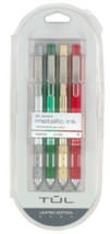Tul Limited Edition Holiday Themed Metallic ink Retractable Gel Pens - a... - $29.69