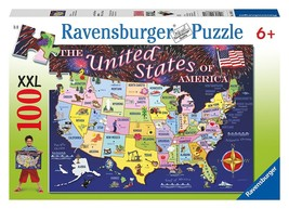 Ravensburger USA Adventure - 100 Piece Discover & Learn Puzzle USA State... - $23.74