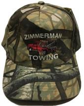 Zimmerman Towing Hat Falls Creek Pennsylvania Cap Camo Hunting Automotiv... - $19.79