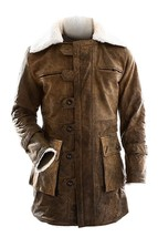 BANE Dark Knight Rises Distressed Dark Brown Real Leather Jacket/Coat - $127.99