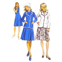 1970s Vintage Simplicity Sewing Pattern 9866 Misses Fit Flared Dress Jac... - $6.95