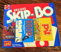 1992 DELUXE SKIP-BO Game Mattel No. 3051 New &  Pit and Rook 80's Card Editions  - $49.49