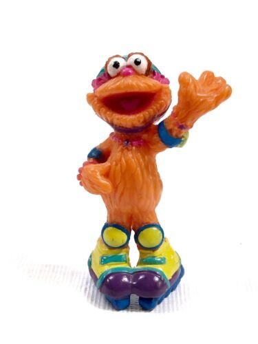 Primary image for Vintage Sesame Street ZOE With ROLLER SKATES PVC Figure Cake Topper Toy 2.5""