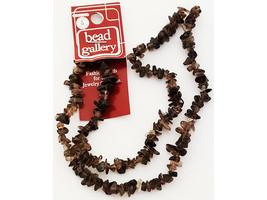 Bead Gallery Stone Smokey Quartz Bead Chips, 20 Inches #55161
