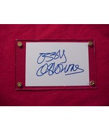 OZZY OSBOURNE  Autographed Signed Signature Cut w/COA - 30701 - $50.00