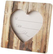 Rustic Romance' Faux-Wood Heart Place Card Holder/Photo Frame - $62.08