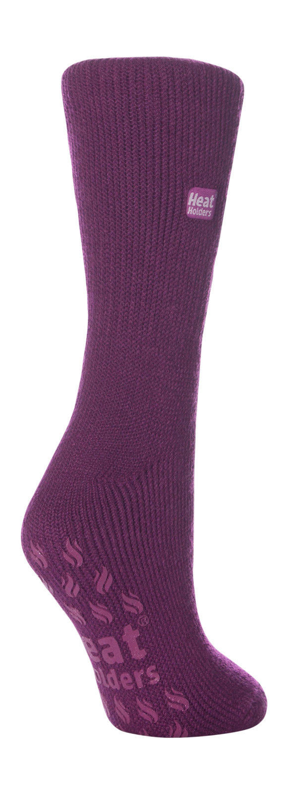 Ladies Genuine Heat Holders Slipper Gripper Non slip Socks Lavender 4-8 uk
