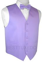 Italian Design. Lavender Satin Tuxedo Vest & Bow-Tie Set. Wedding, Forma... - $18.28+