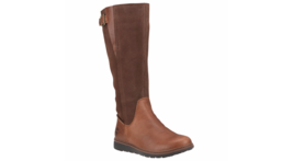 TIMBERLAND Ashdale All Fit Waterproof Leather Stretch Zip Boots Tall Bro... - $1.848,47 MXN