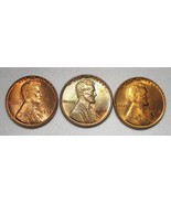 1952-P, D & S Lincoln Wheat Cents Lot of 3 Coins AE969 - $23.15