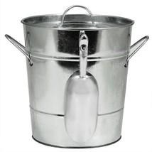 Ice Bucket Handle, Galvanized With Ice Scoop Insulated Wine Ice Bucket M... - $37.99