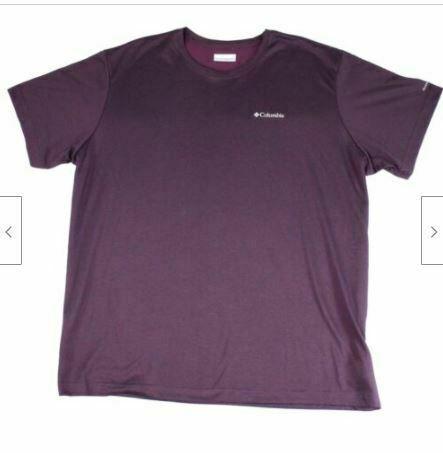 Columbia Men's T-Shirt Purple Size XL Thistletown Ridge Crewneck Tee