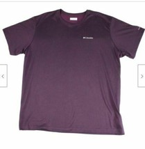 Columbia Men's T-Shirt Purple Size XL Thistletown Ridge Crewneck Tee