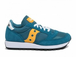 SAUCONY JAZZ ORIGINAL VINTAGE TEAL/YELLOW TRAINERS SNEAKERS WOMEN SHOES ... - $90.09