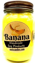 Banana 16oz Country Jar All Natural Handmade Soy Candle Wholesale Scente... - €12,98 EUR