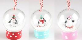 Wondershop 3ct Merry Lane Penguin Snow Globe Christmas Tree Ornaments NEW