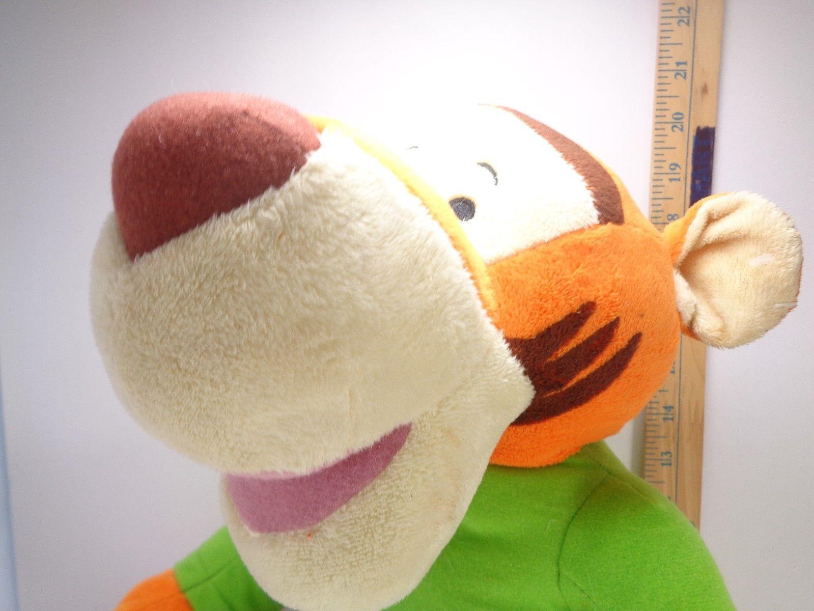 "Easter DISNEY Winnie The Pooh Easter TIGGER Plush Stuffed Green Shirt Large 20"""