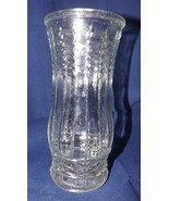 Brody Co. Vintage 1950s Heavy Clear Glass w/ Wheat Stalk Pattern Large Vase - $18.99