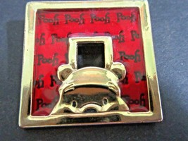 SIGNED DISNEY RED ACRYLIC VINTAGE WINNIE THE POOH PIN  - $22.00